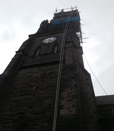 High level repairs after storm damage image